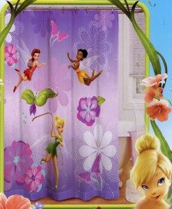 Merveilleux Tinkerbell Shower Curtain Tinker Bell Shower Curtain