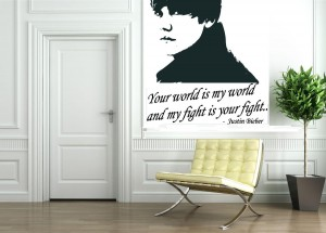 Justin Bieber Wall Decals ...
