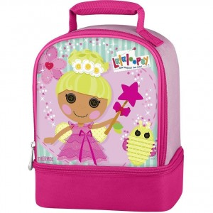 lalaloopsy dual compartment lunch box