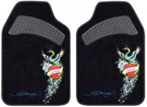 peacock ed hardy car floor mat