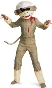 sock monkey costume kids