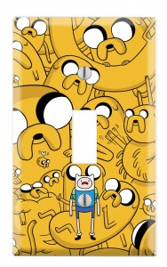 adventure time switch light cover yelloe