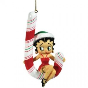 betty boop ornament candy cane