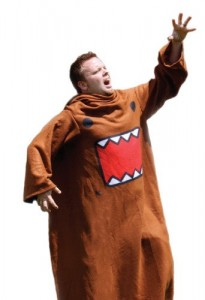 domo kun sleeved blanket