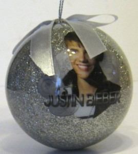 justin bieber christmas ornament ball