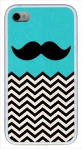 mustache iphone blue