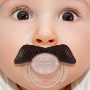 mustache pacifier ladies man