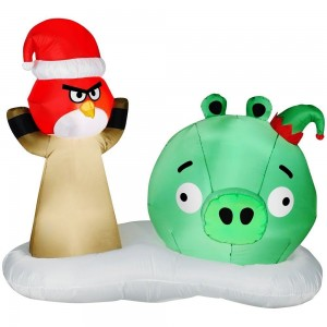 angry birds pig christmas inflatable