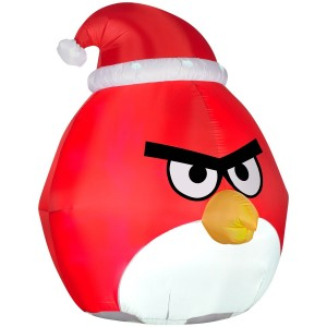 angry birds red christmas inflatable