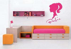 Barbie wall decal cool stuff to buy and collect for Barbie wall mural