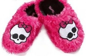 monsters high slippers pink