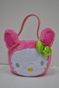 hello kitty easter basket pink