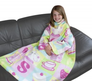 peppa pig sleeved blanket