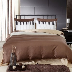 piano bedding brown