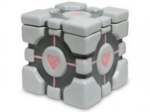 portal 2compannion cube cookie jar