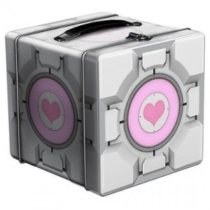 portal companion cube lunch box