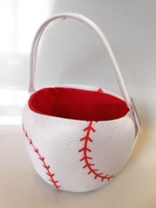 sport easter basket baseball