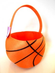 sport easter basket basketball
