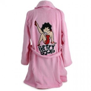 betty boop robe pink