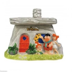 flintstones cookie jar family house