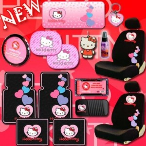 hello kitty car accessories hearts