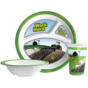 john deere dinnerware work hard
