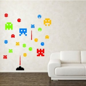 Space Invaders Wall Decal Cool Stuff To Buy And Collect