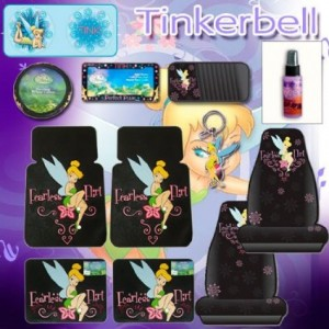 tinkerbell car accessories green