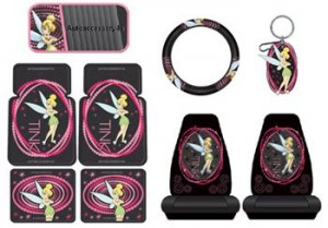 tinkerbell car accessories pink