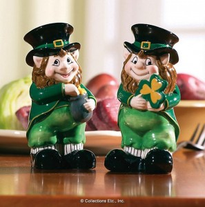 Leprechaun st patrick day salt pepper shaker irish