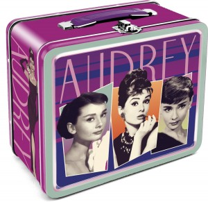 audrey hepburn lunch box purple