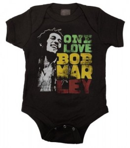 bob marley baby bodysuit one love