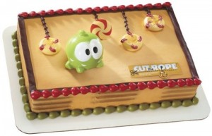 cut the rope birthday cake topper