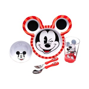 mickey mouse dinnerware red