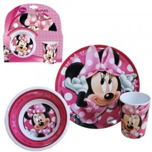 minnie mouse dinnerware set