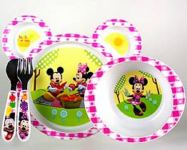 minnie mouse dinnerware set 4