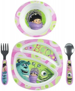 monsters university dinnerware