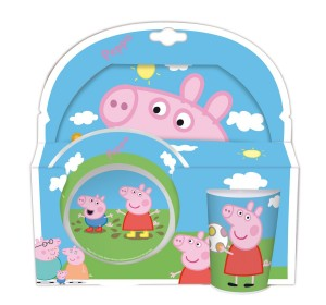 peppa pig dinnerware blue