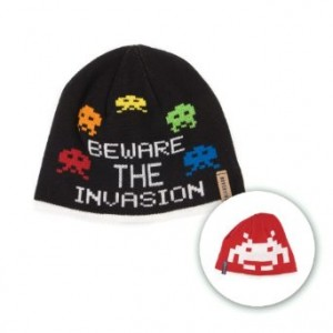 space invaders beanie