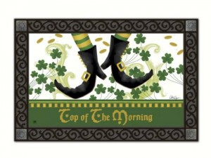 st patrick day door mat