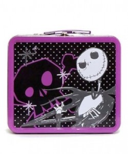 nightmare before christmas lunch box purple