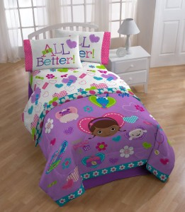 doc mcstuffins bedding purple