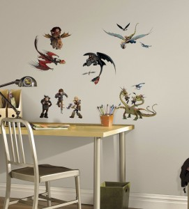 how to train your dragon wall decal