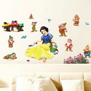 snow white wall decal set