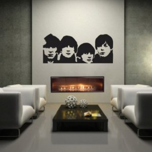 the beatles wall decal 2