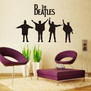 the beatles wall decal