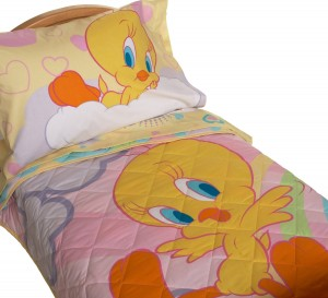 Tweety Bird Hearts Rainbows And Butterflies Cute Bedding Set For Any