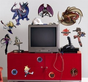 bakugan wall decals