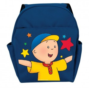 caillou backpack blue