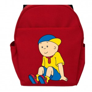 caillou backpack red